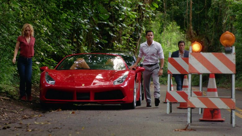 "Ferrari Convertible Red Sports Car in Magnum P.I. Season 2 Episode 7 ""The Man in the Secret Room"" (2019) - TV Show Product Placement"