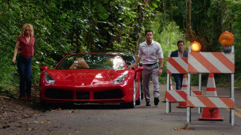Ferrari Convertible Red Sports Car in Magnum P.I. Season 2 Episode 7 (1)