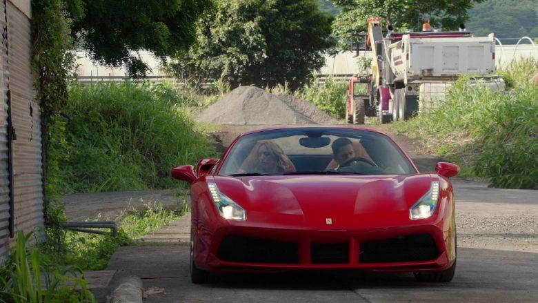 Ferrari Convertible Red Sports Car in Magnum P.I. Season 2 Episode 7 (2)