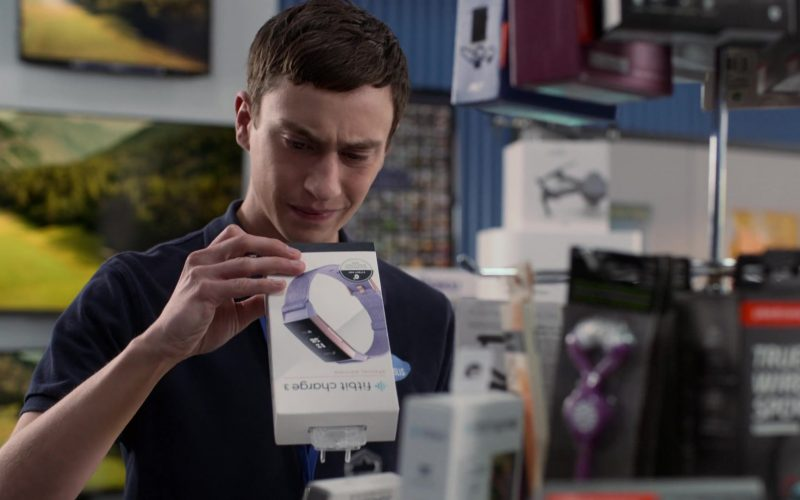 Fitbit Charge 3 Advanced Health and Fitness Tracker Held by Keir Gilchrist as Sam Gardner in Atypical Season 3 Episode 7