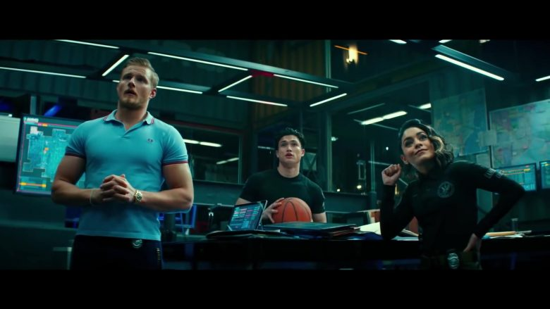 Fred Perry Blue Polo Shirt Worn by Alexander Ludwig in Bad Boys for Life (2020) - Movie Product Placement