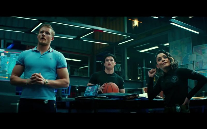 Fred Perry Blue Polo Shirt Worn by Alexander Ludwig in Bad Boys for Life Movie (1)