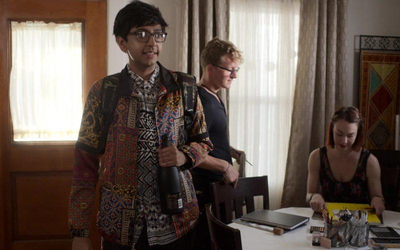 Freixenet Sparkling Wine Bottle Held by Nik Dodani as Zahid in Atypical Season 3 Episode 4 (5)