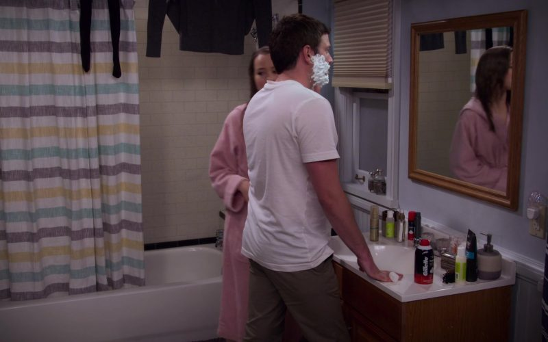 Gillette Shaving Cream Used by Brent Morin as Matt in Merry Happy Whatever Season 1 Episode 5 (1)