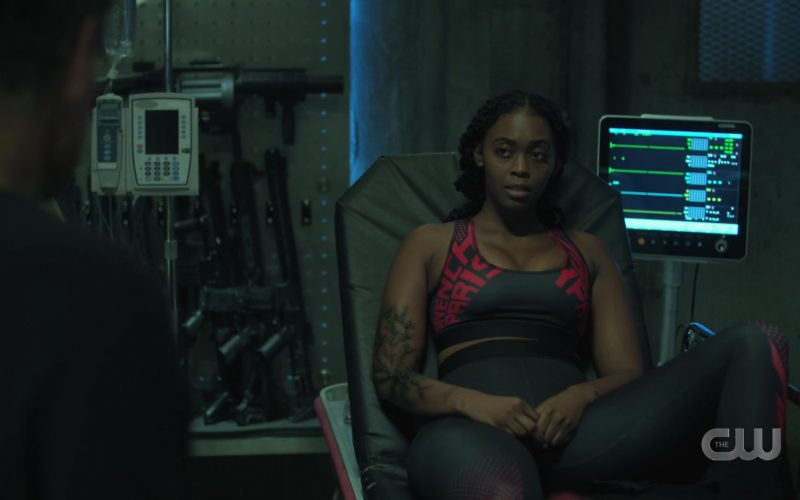 Givenchy Sports Bra and Leggings in Black Lightning Season 3 Episode 6 (1)