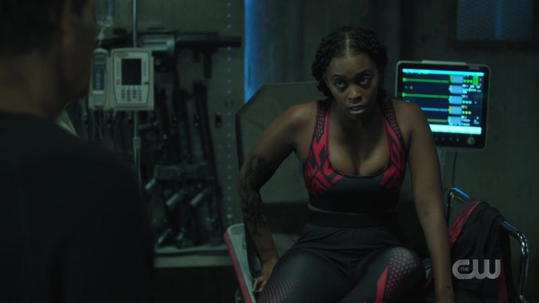 Givenchy Sports Bra and Leggings in Black Lightning Season 3 Episode 6 (2)