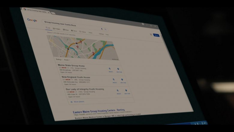 "Google WEB Search Engine in Castle Rock: Season 2, Episode 6 ""The Mother"" (2019) - TV Show Product Placement"