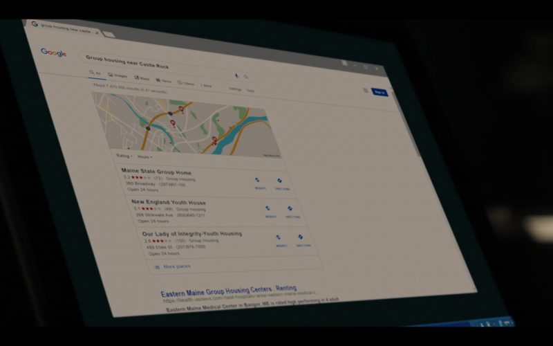 Google WEB Search Engine in Castle Rock Season 2, Episode 6