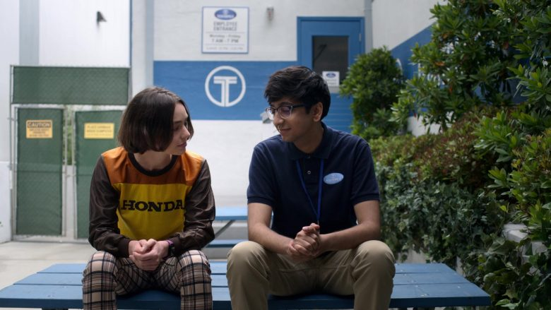"""Honda Cropped Top Worn by Brigette Lundy-Paine as Casey Gardner in Atypical Season 3 Episode 8 """"Road Rage Paige"""" (2019) - TV Show Product Placement"""
