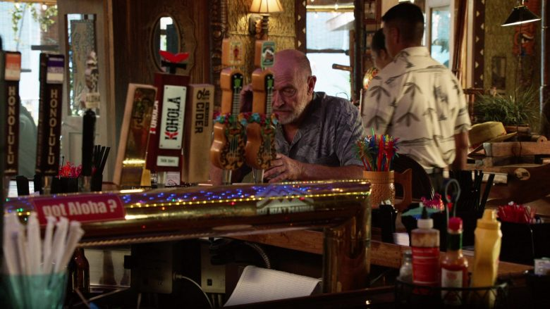 "Honolulu BeerWorks Beer, Kohola Brewery, Ola Brew Cider in Magnum P.I. Season 2 Episode 7 ""The Man in the Secret Room"" (2019) TV Show"