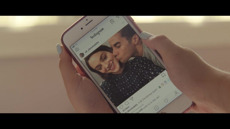 Instagram Social Network in Let It Snow (2019) - Movie Product Placement