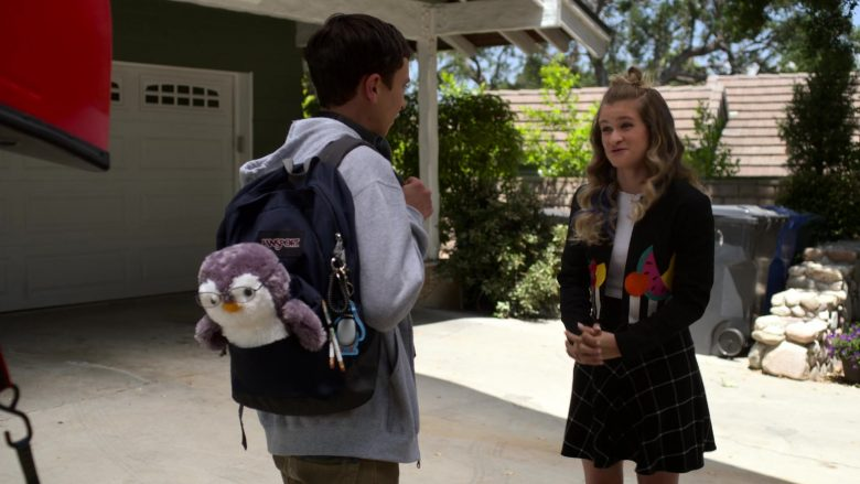 "JanSport Backpack Used by Keir Gilchrist as Sam Gardner in Atypical Season 3 Episode 10 ""Searching for Brown Sugar Man"" (2019) TV Show"