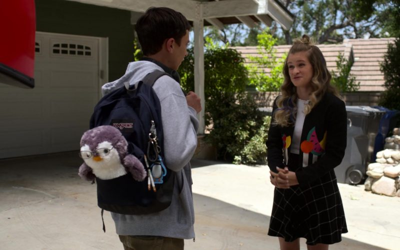 JanSport Backpack Used by Keir Gilchrist as Sam Gardner in Atypical Season 3 Episode 10