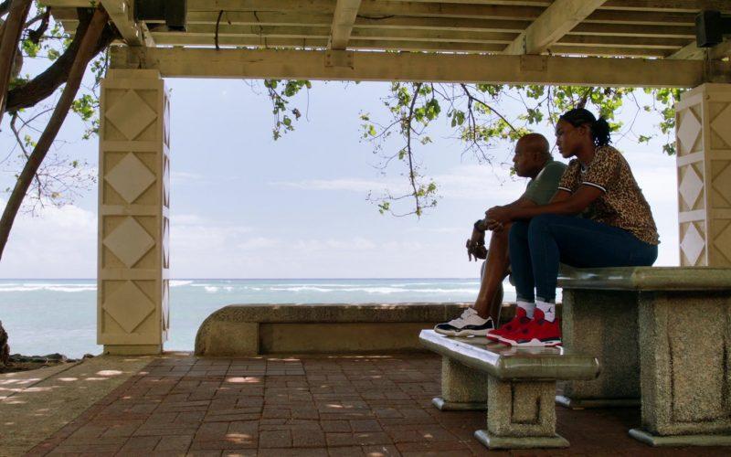 Jordan Red Sneakers and Socks in Hawaii Five-0 Season 10 Episode 8