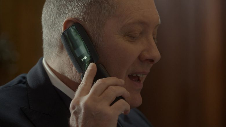 "LG Mobile Phone Used by James Spader as Raymond 'Red' Reddington in The Blacklist Season 7 Episode 6 ""Dr. Lewis Powell"" (2019) - TV Show Product Placement"