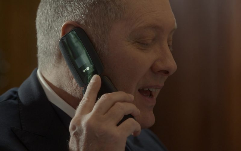 LG Mobile Phone Used by James Spader as Raymond 'Red' Reddington in The Blacklist Season 7 Episode 6 Dr. Lewis Powell (2)
