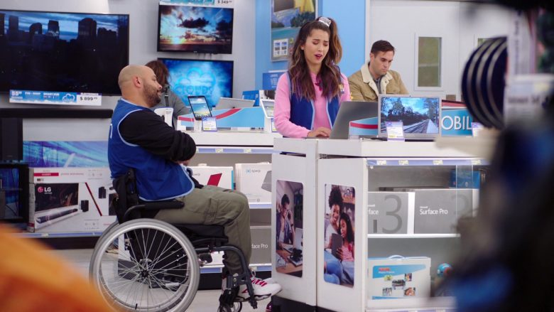 "LG and Microsoft Surface Pro 3 in Superstore: Season 5, Episode 8 ""Toy Drive"" (2019) - TV Show Product Placement"