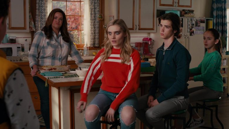 """Lacoste Sweater Worn by Daniel DiMaggio as Oliver Otto in American Housewife Season 4 Episode 7 """"Flavor of Westport"""" (2019) - TV Show Product Placement"""