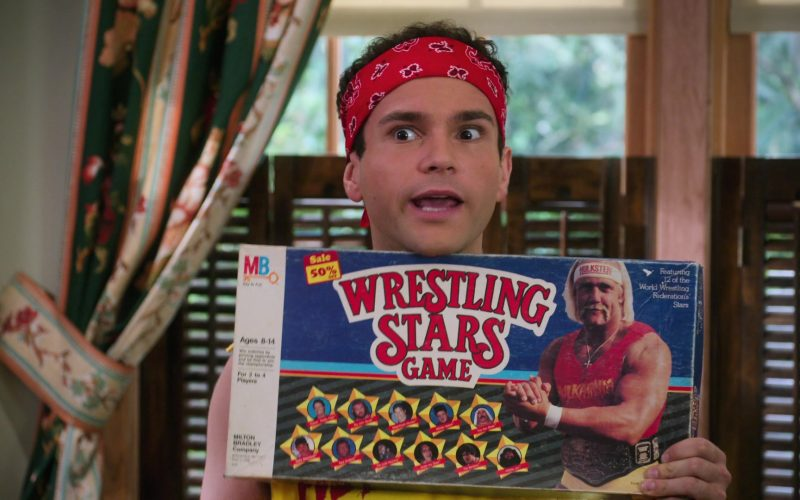 MB Wrestling Stars Board Game Held by Troy Gentile as Barry in The Goldbergs Season 7 Episode 7
