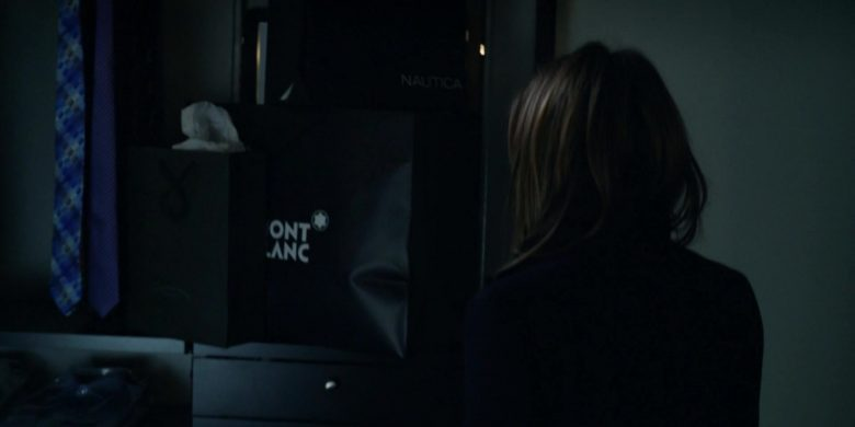 Mont Blanc and Nautica Paper Bags in The Morning Show Season 1 Episode 1 (2019) - TV Show Product Placement