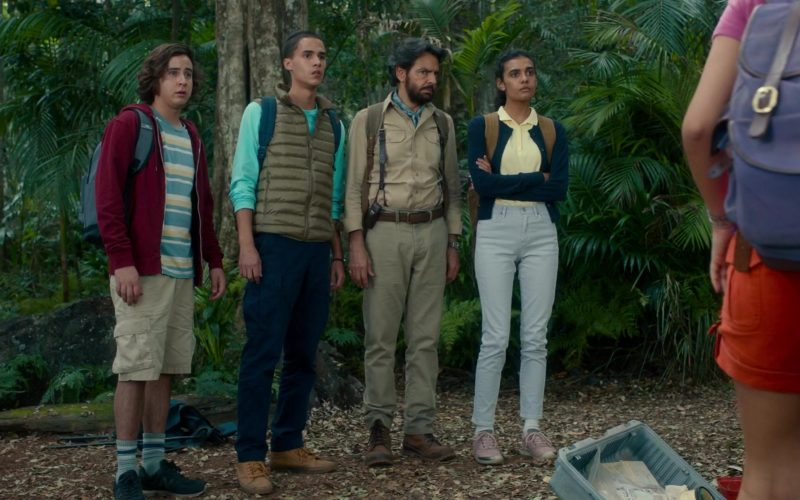 New Balance Blue Sneakers Worn by Nicholas Coombe in Dora and the Lost City of Gold