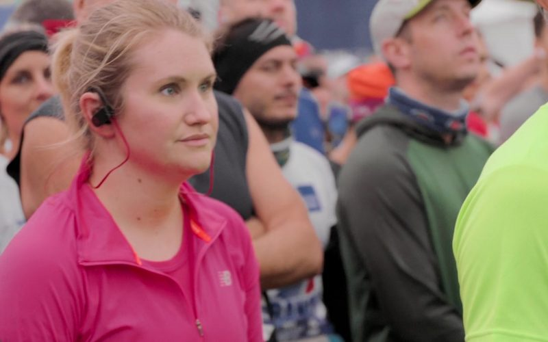 New Balance Pink Jacket Worn by Jillian Bell in Brittany Runs a Marathon (2019)