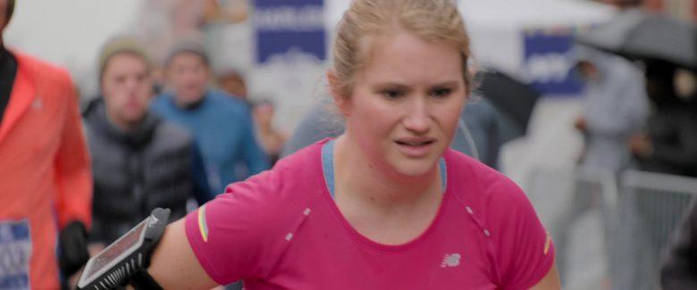 New Balance Pink T-Shirt Worn by Jillian Bell in Brittany Runs a Marathon (2)