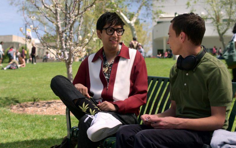 Nike All-White Sneakers Worn by Nik Dodani as Zahid in Atypical Season 3 Episode 2