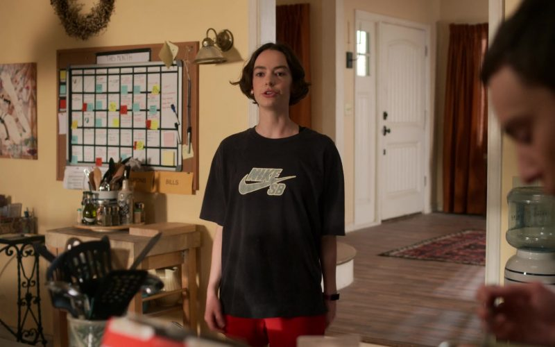 Nike Black T-Shirt Worn by Brigette Lundy-Paine as Casey Gardner in Atypical Season 3 Episode 2 (1)