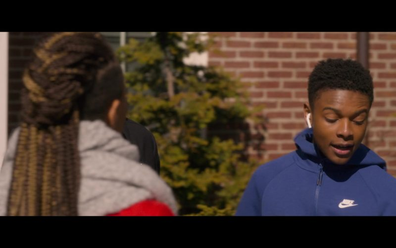 Nike Blue Hoodie & Sweatpants Worn by Amarr M. Wooten in Holiday Rush (3)