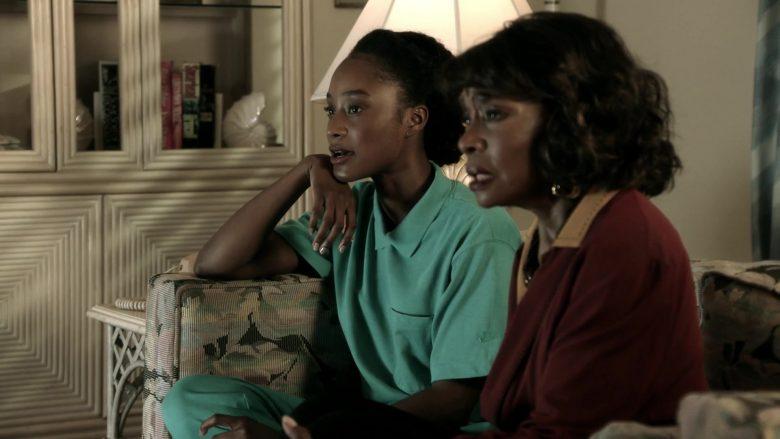 Nike Women's Green Shirt in 9-1-1 Season 3 Episode 7 Athena Begins (1)