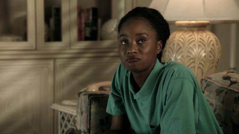 Nike Women's Green Shirt in 9-1-1 Season 3 Episode 7 Athena Begins (2)
