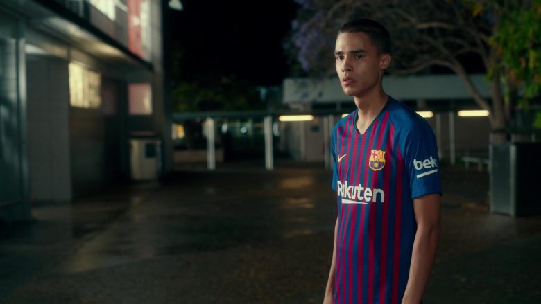 Nike x FC Barcelona x Rakuten x Beko Tee Worn by Jeff Wahlberg in Dora and the Lost City of Gold (2019) - Movie Product Placement