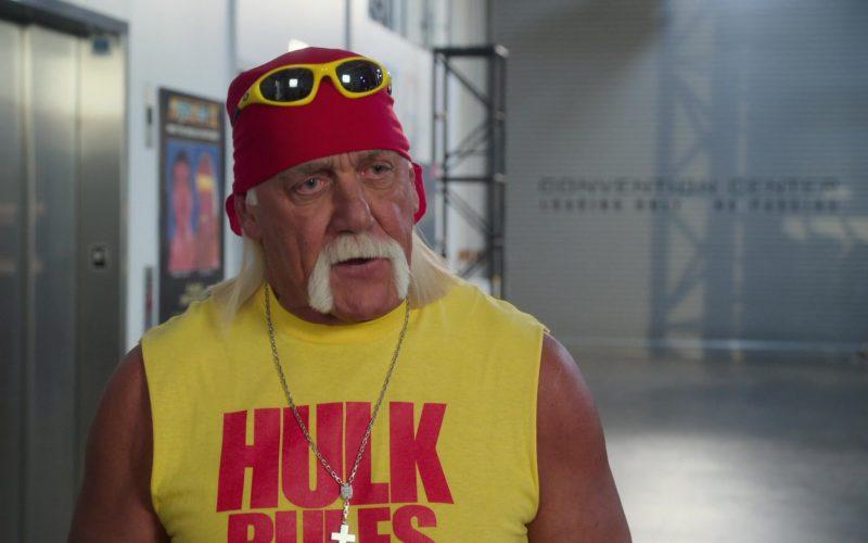 Oakley Yellow Sunglasses Worn by Hulk Hogan in The Goldbergs Season 7 Episode 7 (1)