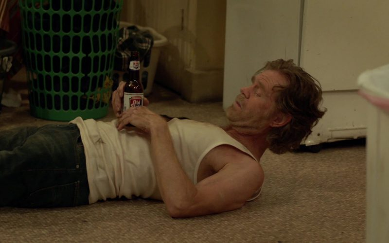 Old Style Beer Enjoyed by William H. Macy as Frank Gallagher in Shameless Season 10 Episode 1
