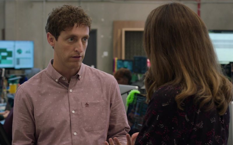 Original Penguin Shirt Worn by Thomas Middleditch as Richard Hendricks in Silicon Valley Season 6 Episode 4 (1)