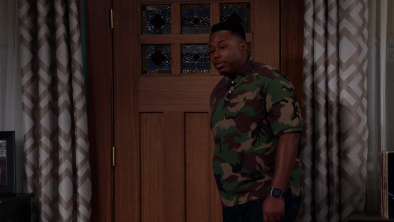 """Polo Ralph Lauren Camouflage Shirt Worn by Marcel Spears Jr. in The Neighborhood Season 2 Episode 8 """"Welcome to Bowling"""" (2019) - TV Show Product Placement"""