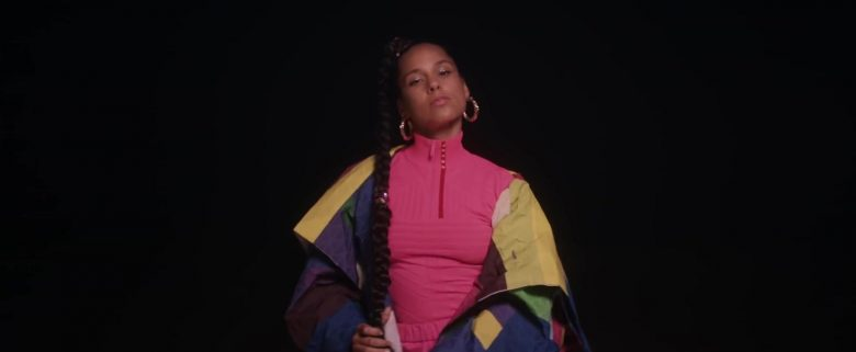Prada Pink Sweater Outfit Worn by Alicia Keys in Time Machine (2019) - Official Music Video Product Placement