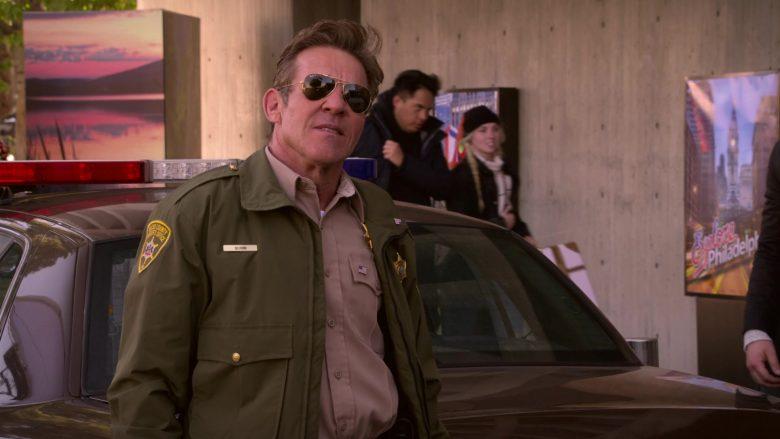 Ray-Ban Aviator Sunglasses Worn by Dennis Quaid as Don Quinn in Merry Happy Whatever Season 1 Episode 8 (2)