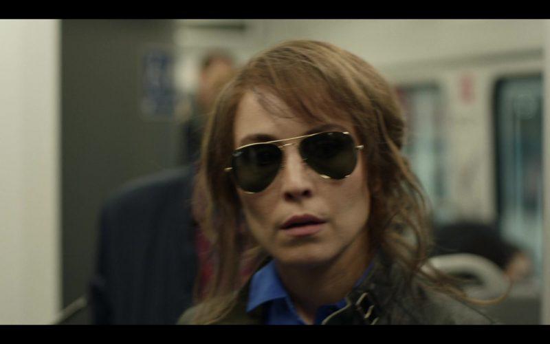 Ray-Ban Aviator Sunglasses Worn by Noomi Rapace in Tom Clancy's Jack Ryan Season 2 Episode 5 (2)