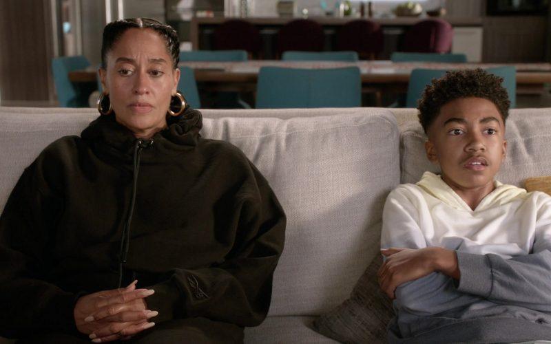 Reebok Black Hoodie Worn by Tracee Ellis Ross as Dr. Rainbow 'Bow' Johnson in Black-ish Season 6 Episode 7
