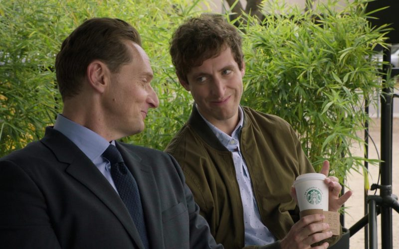 Starbucks Coffee Cup Held by Thomas Middleditch as Richard Hendricks in Silicon Valley Season 6 Episode 5