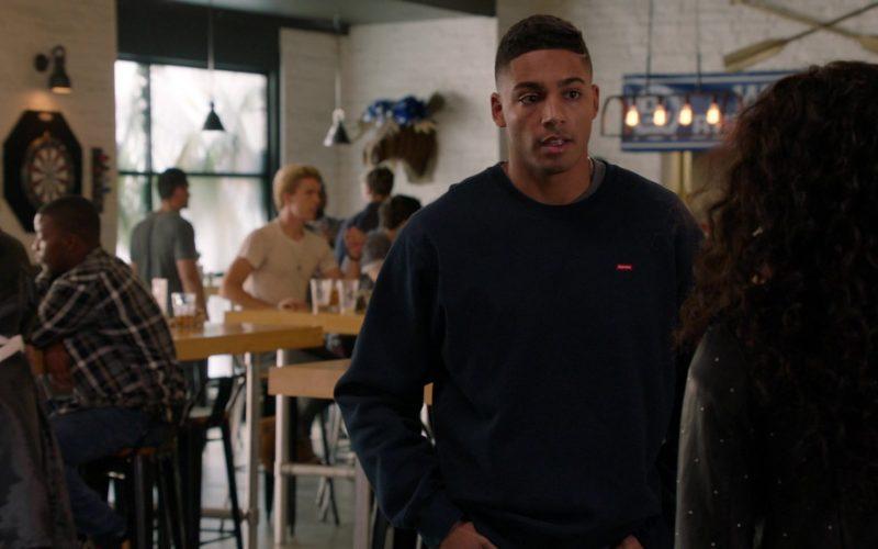 Supreme Sweatshirt Worn by Michael Evans Behling as Jordan Baker in All American Season 2 Episode 6 (1)