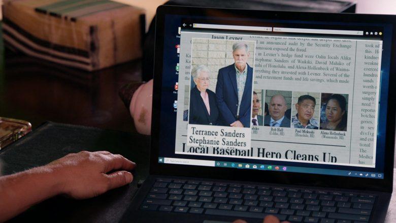 Surface Notebook Used by Perdita Weeks as Juliet Higgins in Magnum P.I. Season 2 Episode 8 (4)