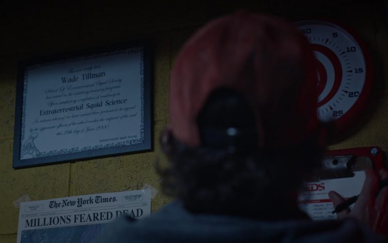 The New York Times Newspaper in Watchmen Season 1 Episode 5 Little Fear of Lightning (2019)