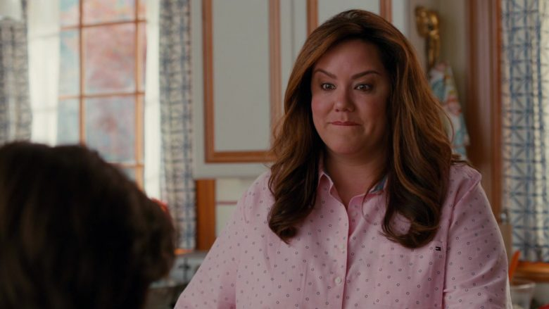 Tommy Hilfiger Pink Shirt Worn by Katy Mixon as Katie Otto in American Housewife Season 4 Episode 7 (6)