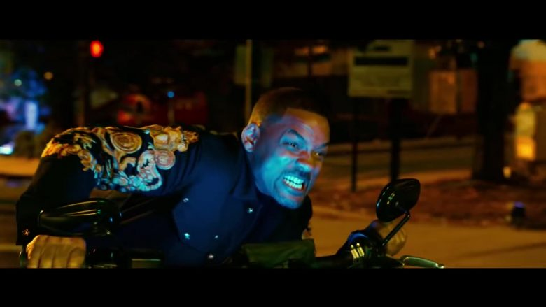 Versace Baroque Print Denim Jacket Worn by Will Smith as Detective Mike Lowrey in Bad Boys for Life (2020) - Movie Product Placement