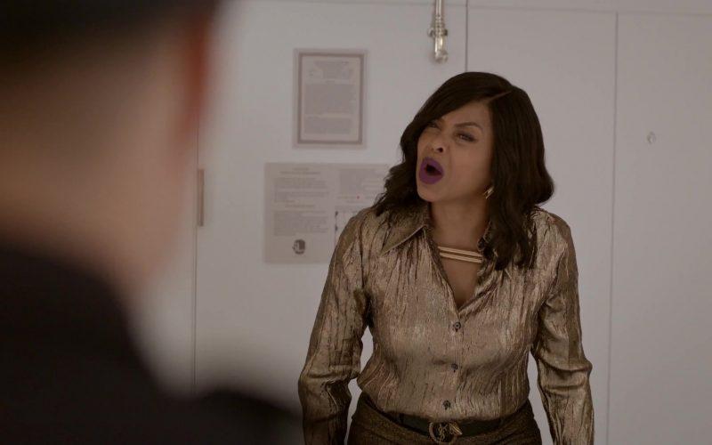 YSL Belt Worn by Taraji P. Henson as Loretha 'Cookie' Lyon in Empire Season 6 Episode 6 (1)