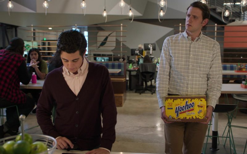 Yoo-hoo Drinks Held by Zach Woods as Jared in Silicon Valley Season 6 Episode 4 (1)