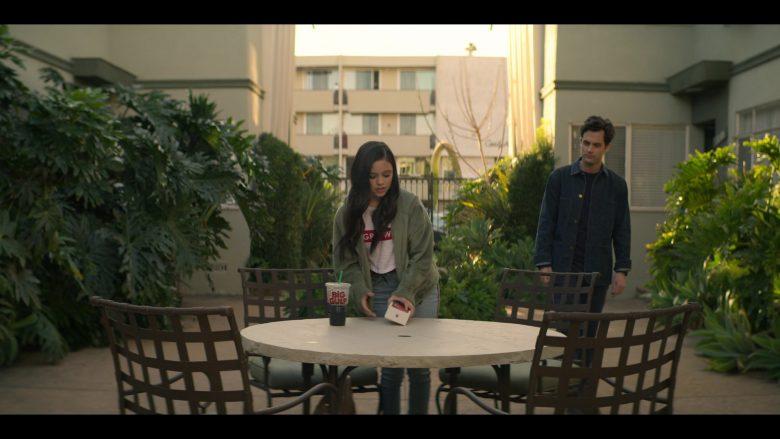 7-Eleven Big Gulp Drink Enjoyed by Jenna Ortega as Ellie Alves in YOU Season 2 Episode 1 A Fresh Start (2)